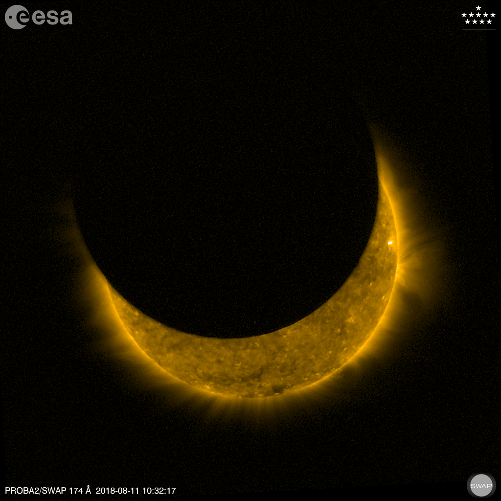 PROBA2 SWAP image of August 2018 eclipse
