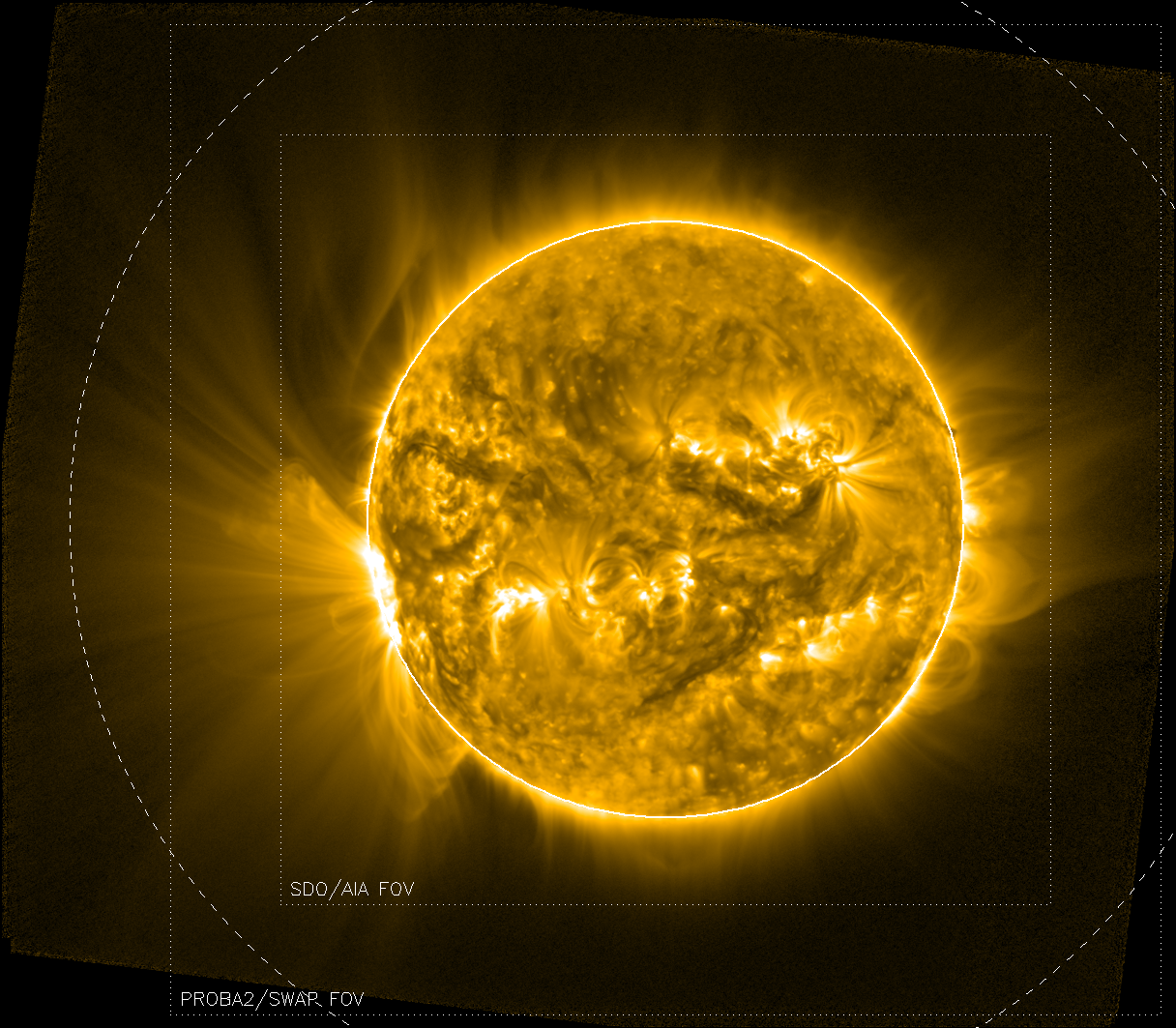 SWAP's view of AR 12209 on the east limb of the Sun.